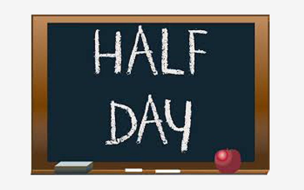 March 10, 2020 Half Day Student Schedule