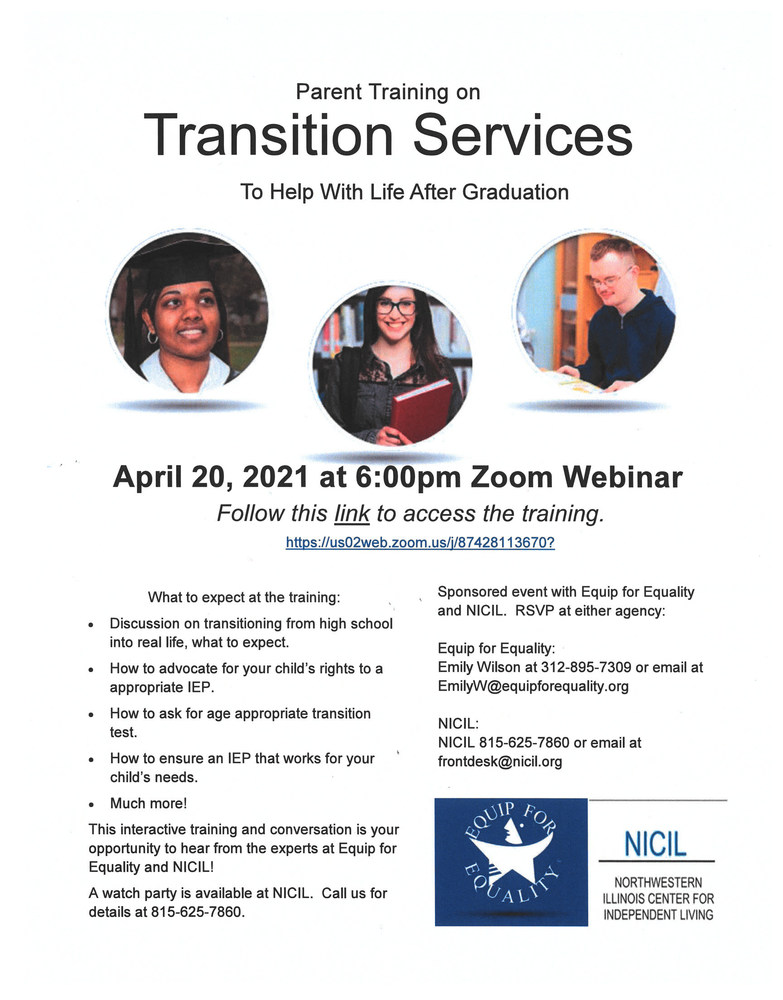 Parent Training on Transition Services for IEP Students