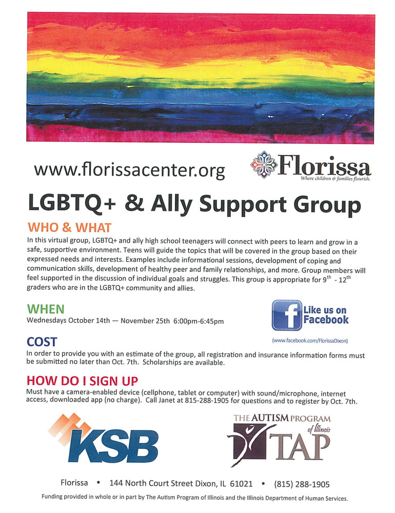 LGBTQ + & Ally Support Group