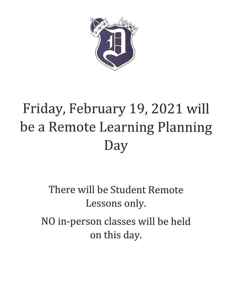 February 19, 2021-Remote Learning Planning Day