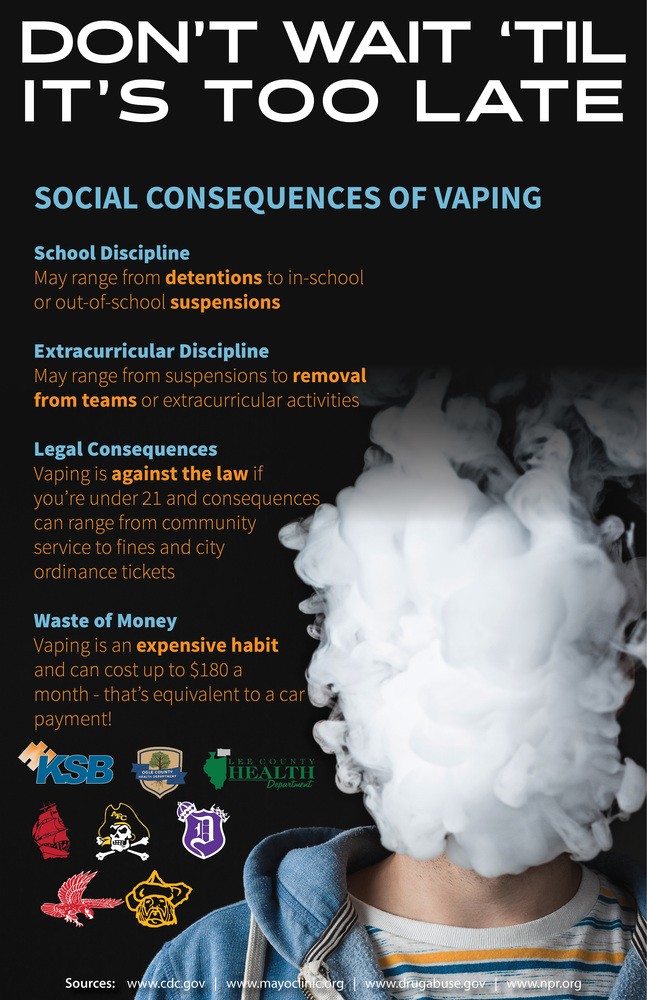 DHS Students Participate in Anti-Vaping Campaign with Other Local Schools and Agencies