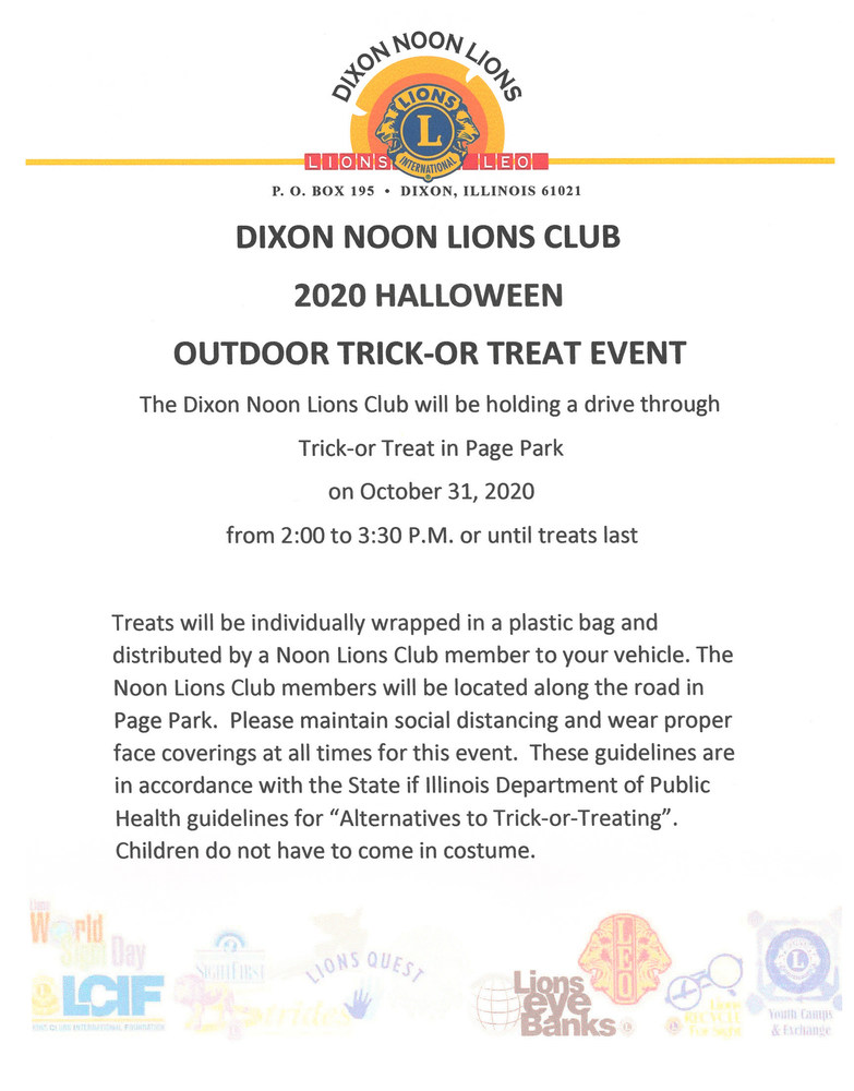 2020 Halloween Trick-Or-Treat Event
