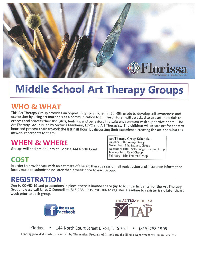 Middle School Art Therapy Groups