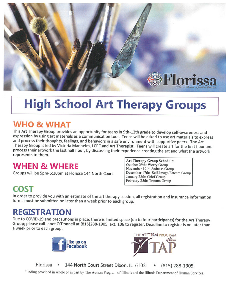 High School Art Therapy Groups
