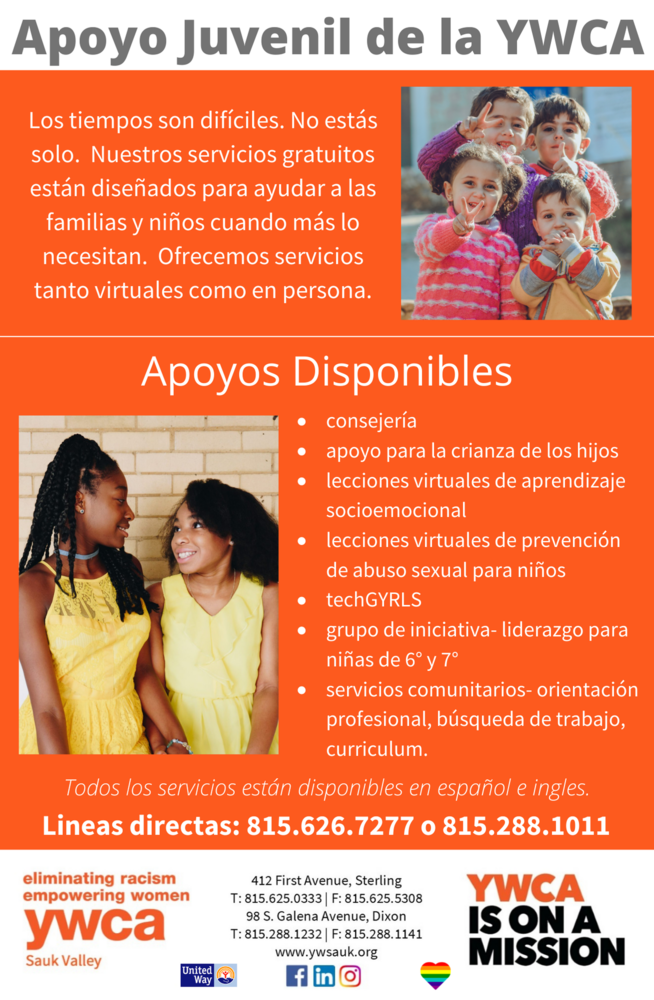 YWCA Youth Support  (Spanish)