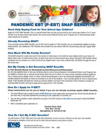 Pandemic EBT SNAP Benefits For Parents