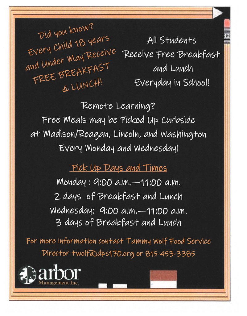 Arbor flyer on free meals