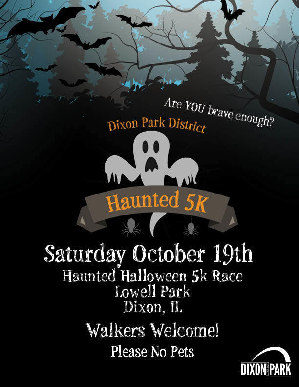 Park District Haunted 5k flyer