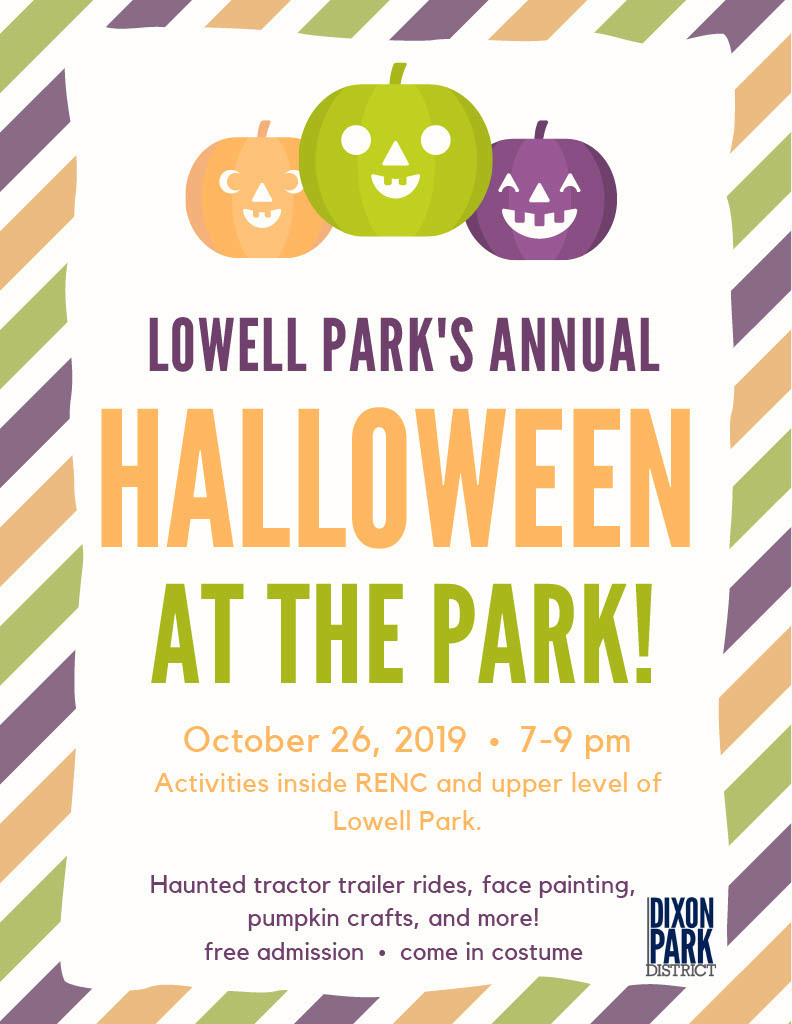 Halloween at the Park Flyer from the Park District