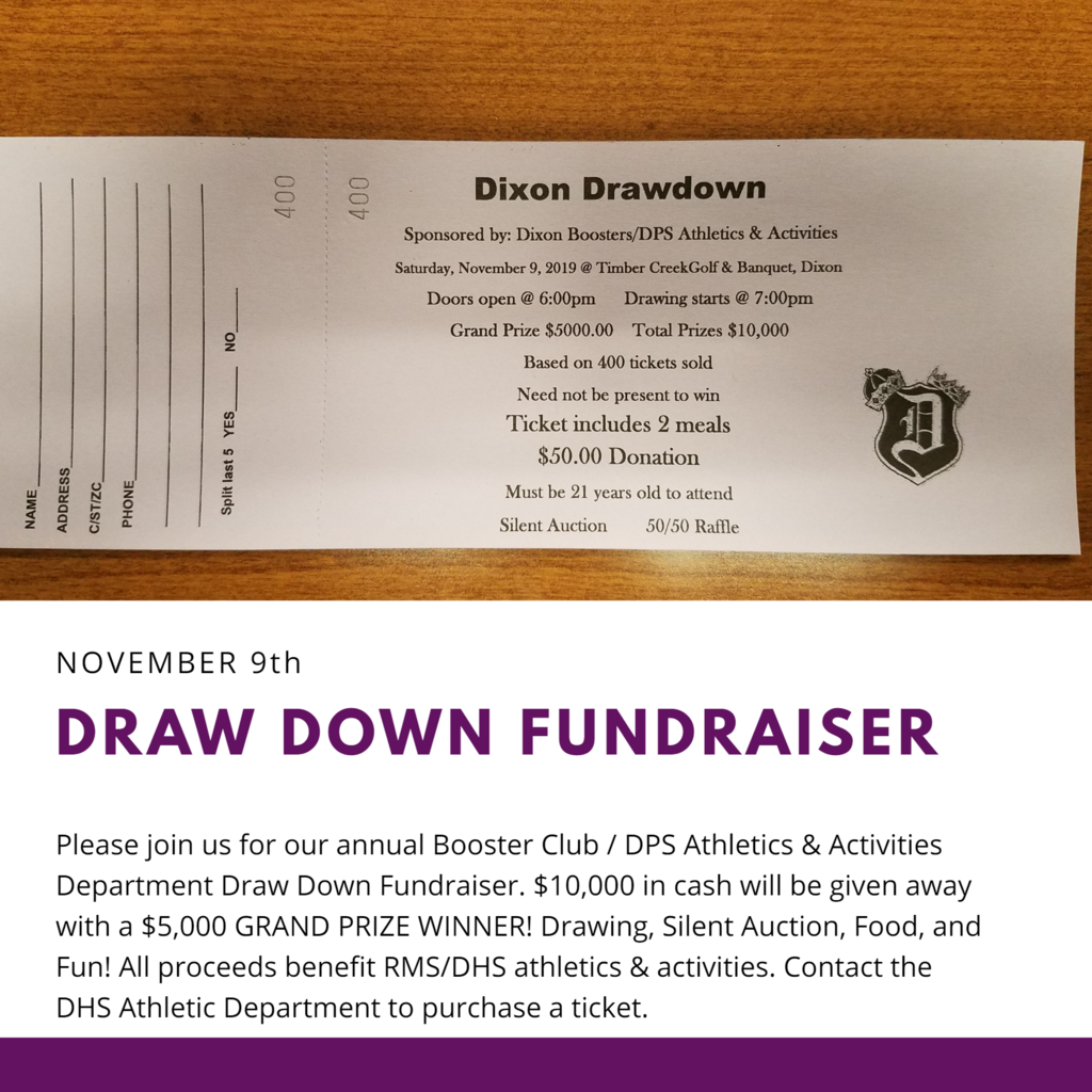 Draw Down Fundraiser