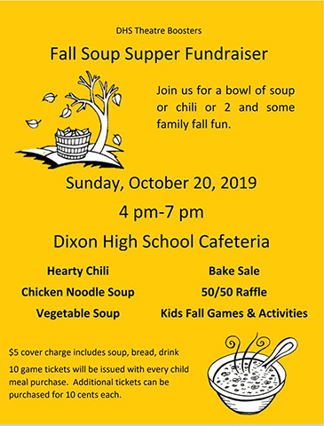 DHS Theater Boosters Soup Supper - 4-7 PM - DHS Cafeteria