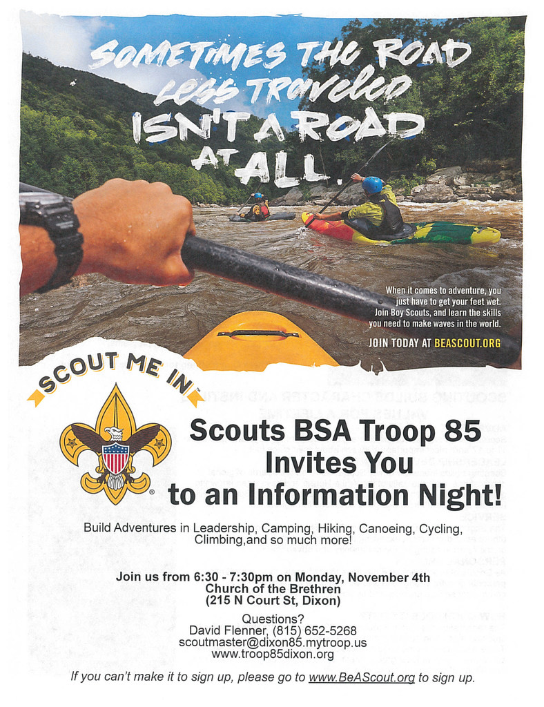 Boy Scouts flyer page 1
