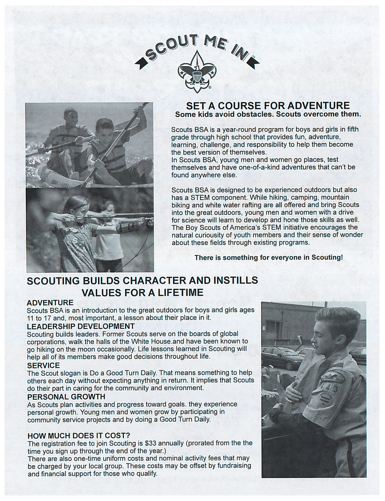 Boy Scouts flyer page 2