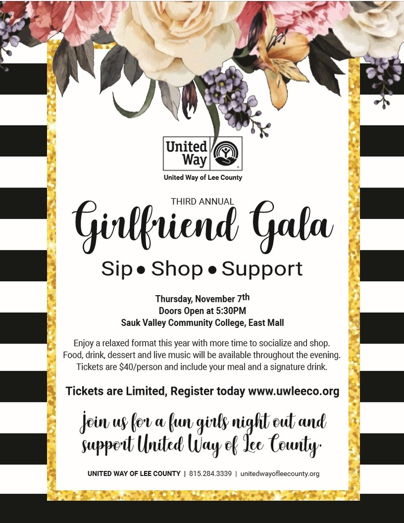 United Way Girlfriend Gala Flyer