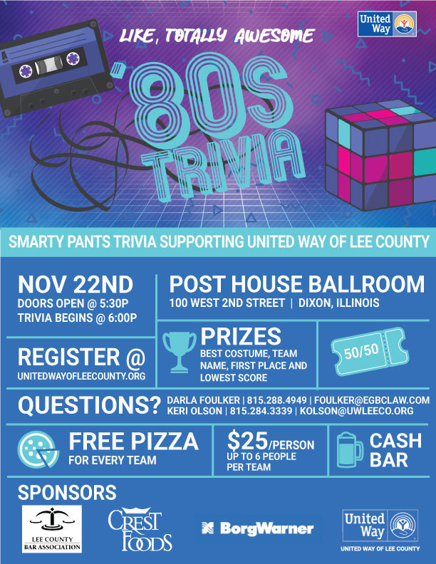 United Way Trivia Event Flyer
