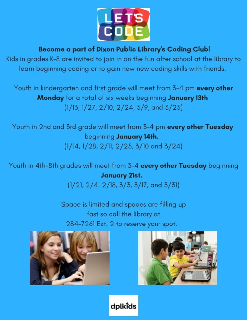 Library Coding Club Flyer