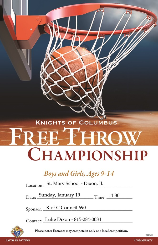 Knights of Columbus Free Throw Flyer