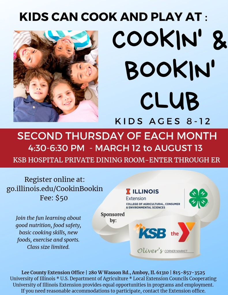 4H Cooking Flyer