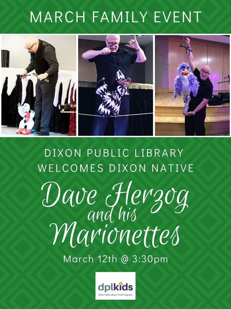 Public Library March Family Event Flyer