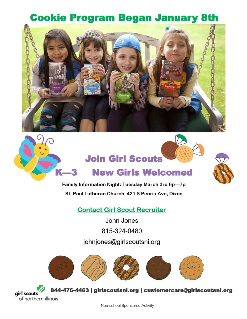 Girl Scout Cookie Flyer