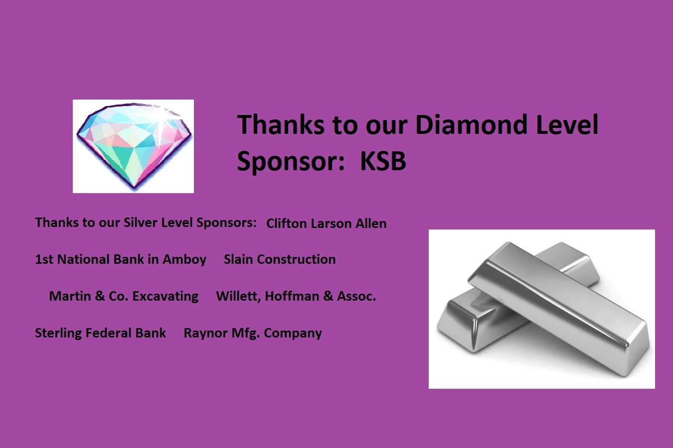 Graphic with Diamond & Silver Sponsors